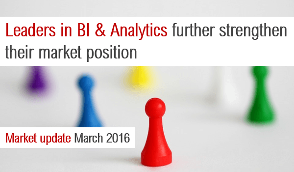 Leaders in BI & Analytics further strengthen their market position