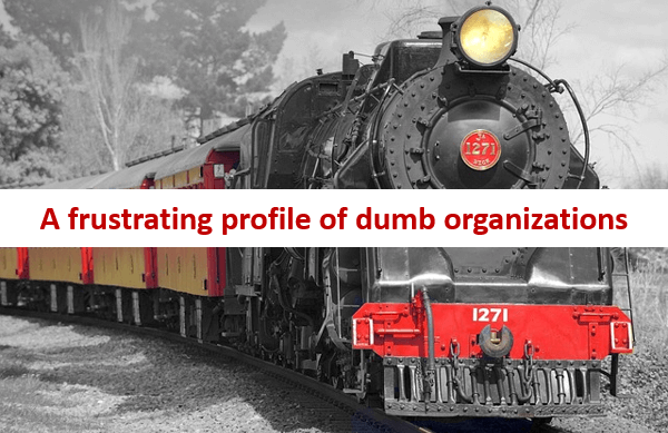 A frustrating profile of dumb organizations