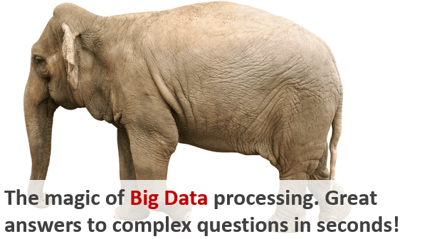 The magic of Big Data processing. Great answers to complex questions in seconds!