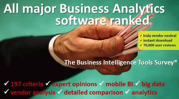 Go to the Business Analytics Survey (business analytics software included)