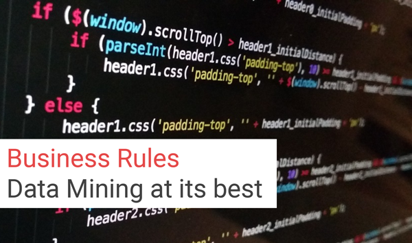 Business Rules   Data Mining at its best