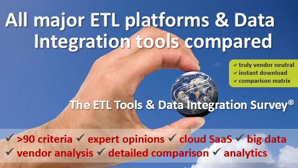ETL Tools & Data Integration Survey: all major ETL platforms and data integration tools compared