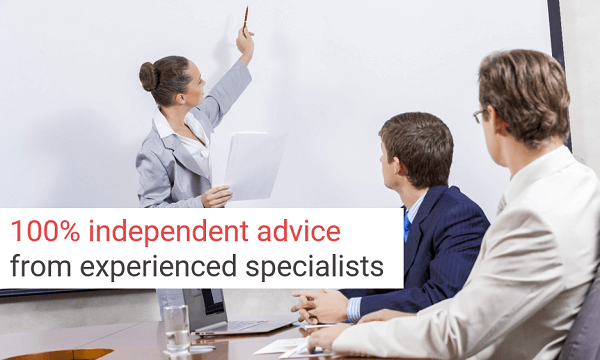 Independent advice from experienced specialists