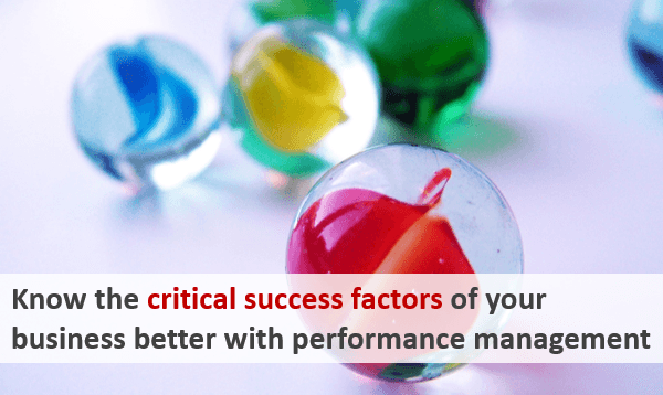 Know the critical success factors of your business better with performance management!