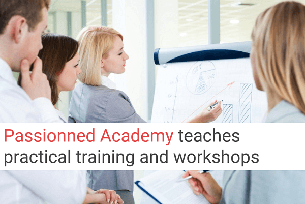 Passionned Academy's training and workshops
