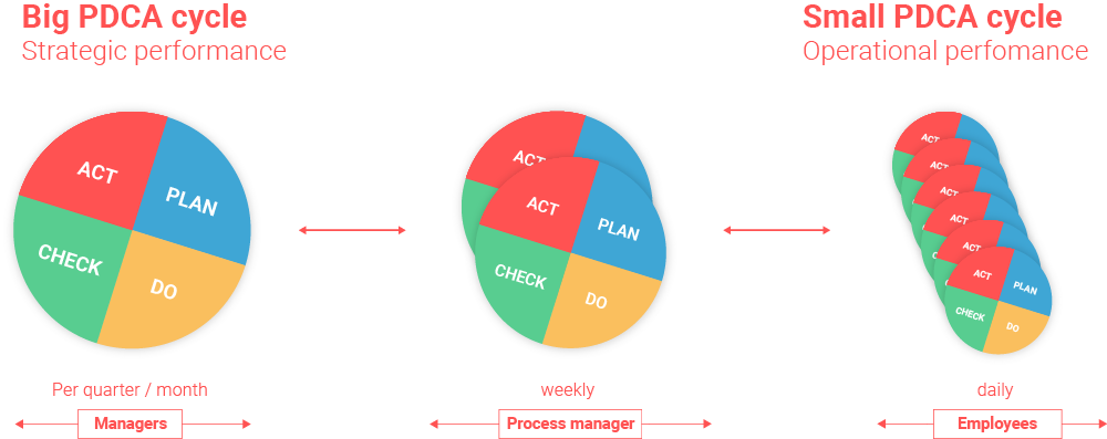 Big and small PDCA cycles