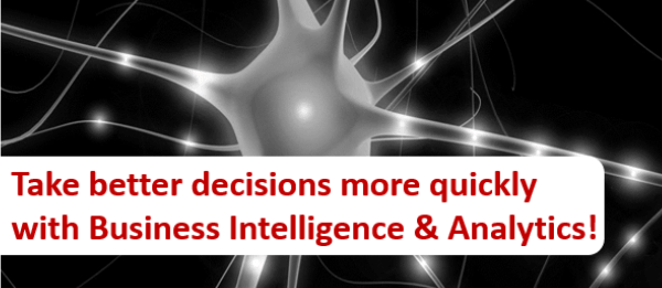 Take better decisions more quickly with Business Intelligence & Analytics!