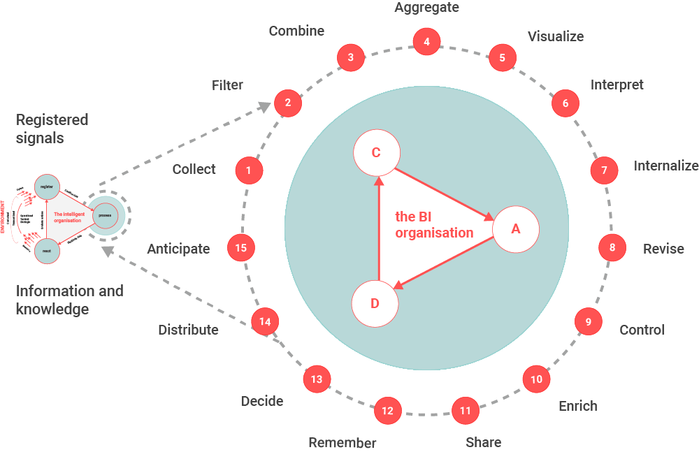 The (small) Business Intelligence cycle consists of fifteen steps